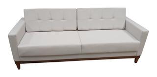 Sofa Hugo Livin Pe Base Madeira Corano Suede Eco Linho 180cm