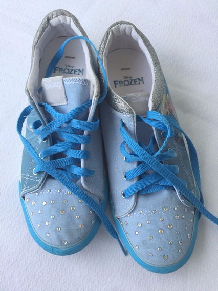 Tênis Infantil Disney Frozen Elsa Tam. 33 Azul