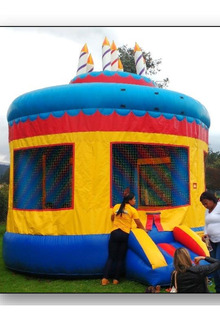 Saltarin Inflable Fiesta (pastel)