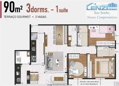 Imagem 1 de 12 de Apartamentos À Venda  Em Barueri/sp - Compre O Seu Apartamentos Aqui! - 1425853
