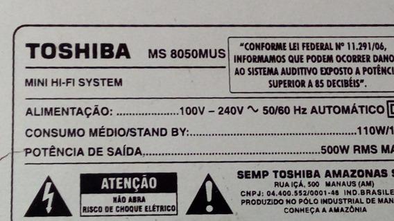 Mecanica Completa Com Ótica Usada Boa Som Toshiba Ms8050 Mus