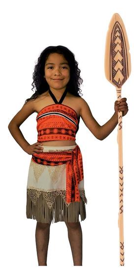Disfraz Moana Princesa Niña Mohana Vestido Maui Mohanna Toys