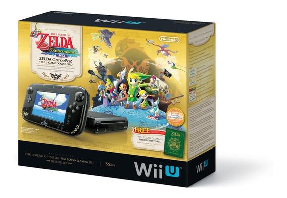 Nintendo Wii U Zelda Edition Completo Na Caixa