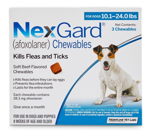 Nexgard Para Perros 25 A 50 Kgs