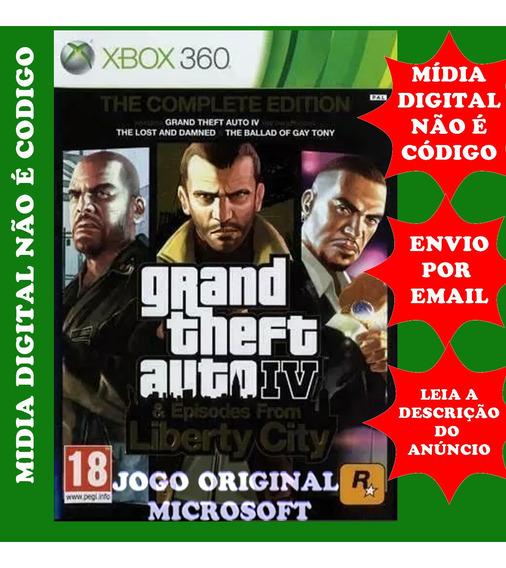 Gta 4 Xbox 360 Midia Digital Original