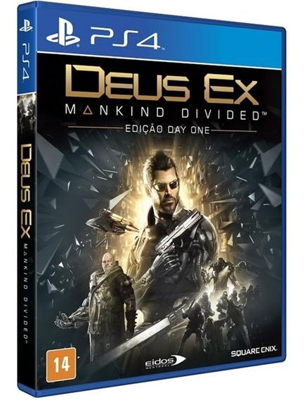 Jogo Deus Ex Mankind Divided Ps4 Mídia Física Novo Dublado