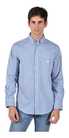 Camisa Stretch Fit Chaps Azul 750735463-35lc Hombre