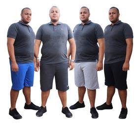 Kit 2 Bermuda Shorts Moletom Extra Grande 52 54 56 58 60