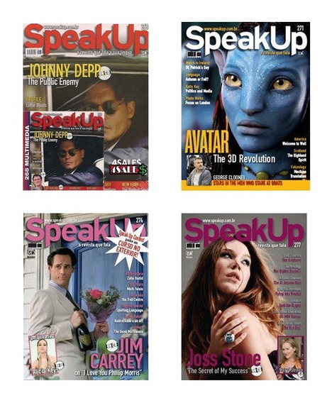 4 Revista Speak Up + Cd P/ Curso De Ingles Idioma Treino Eng
