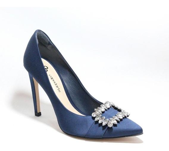 Scarpin Salto Alto Azul Capodarte Sapato Femininos Promocao