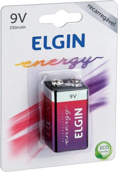 Bateria Recarregável 9v 250 Mah 82215 Elgin - Nfe