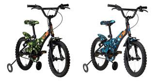 Bicicleta Infantil Groove Aro 16 Camuflada Com Rodinhas - Ar