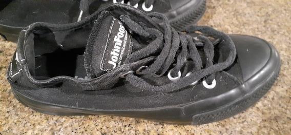 Zapatillas John Foos Negras 38 Usadas - Retiros En Recoleta