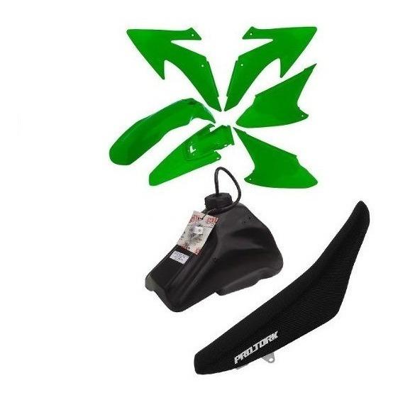 Kit Plastico Crf230 Roupa Completa Xr Nx 150 200 250 Verde