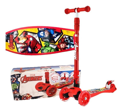 Patineta De Advengers Y Spiderman Marvel Para Niños Scooter
