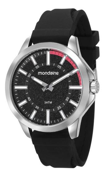 Kit Relógio Masculino Mondaine 99343g0mvni1 Pul Silicone