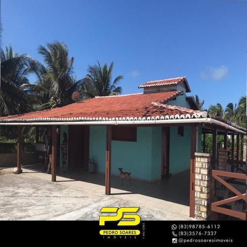 Casa Com 2 Dormitórios À Venda, 1200 M² Por R$ 630.000,00 - Sibaúma - Tibau Do Sul/rn - Ca0624