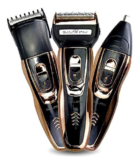 Máquina De Barbear, Barbeador Elétrico, Aparador De Pelos, Máquina De Cortar Cabelo Daling 3 Em 1 - Recarregável