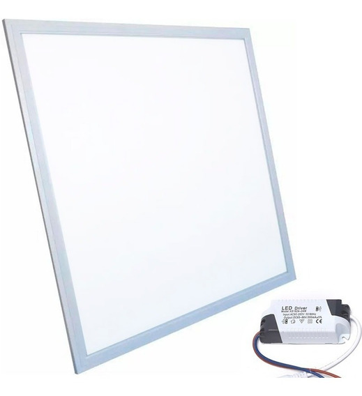 Painel Plafon Luminaria Teto Embutir Quadrado Led 48w Gesso