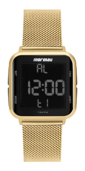 Relógio Mormaii Digital Dourado Mo6600ah/8d