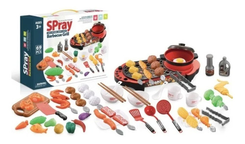 Juguetes Para Niños Spray Barbecue Bbq Parrilla Grill