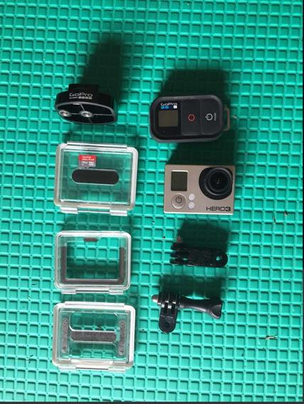 Gopro Hero 3 Black Com Controle Remoto Wifi Original+brindes
