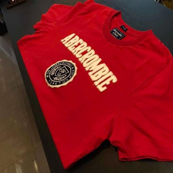 Camiseta Abercrombie Vermelha Original 2019