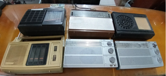 Lote De 6 Radios Para Conserto Ou Retirada De Peças-