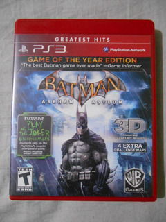 Batman Arkham Asylum Goty Con Manual Game Of The Year