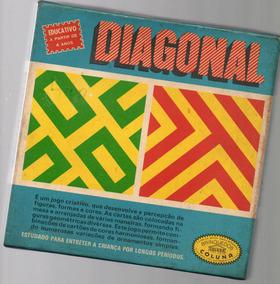 Jogo Diagonal- Brinquedo Antigo E Raro Completo -coluna