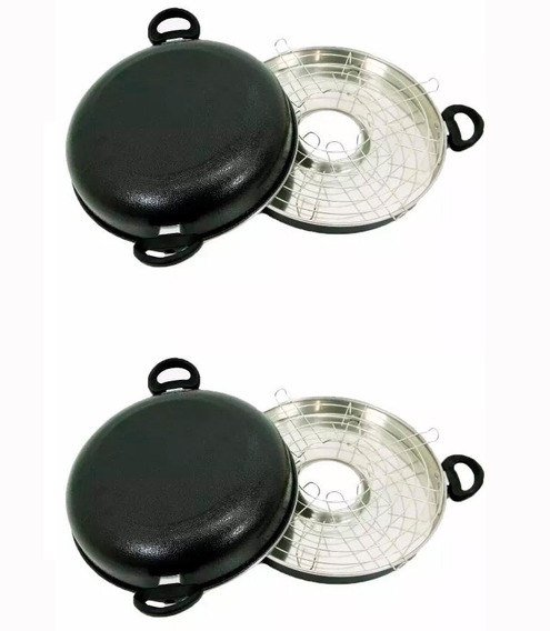 Duas Assadeiras Churrasco Fogão Estilo Grill Oriental Guassu