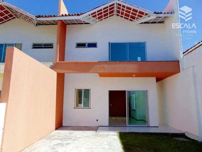 Casa Duplex À Venda No Papicu. Nova,150m2, 3 Suítes, Gabinete, 3 Vagas. Aceita Carro. - Ca0163