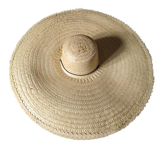 1 Chapéu Tipo Mexicano Praia / Sombreiro C/ Cordão Ref 0093