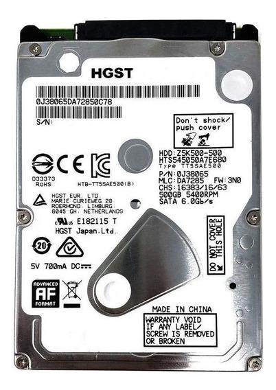 Disco rígido interno HGST Travelstar Z5K500 HTS545050A7E680 500GB