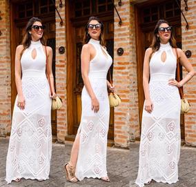 0f6e35d9031a Vestido Longo Chick De Festa Com Abertura Na Perna - Vestidos com o ...