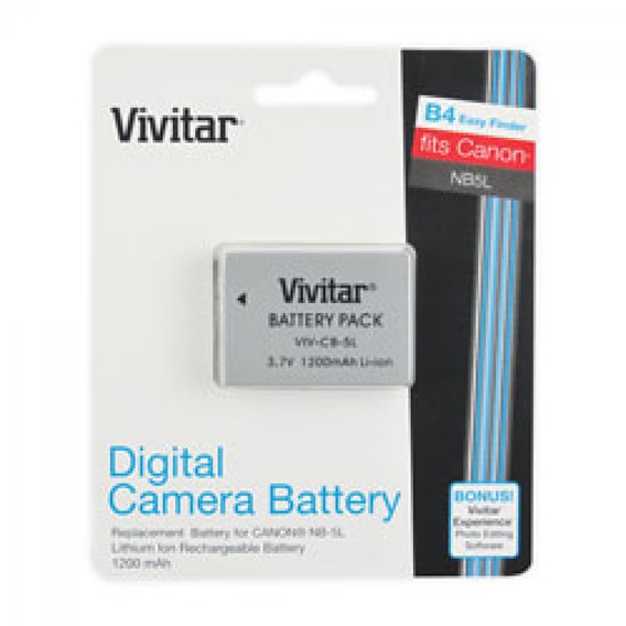 Bateria Vivitar Nb-5l 3.7v 1200mah Para Canon
