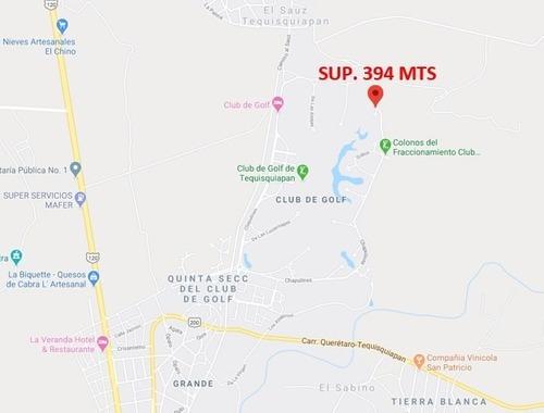 Terreno Avispa Club De Golf, Tequisquiapan Qro Sup. 394 Mts
