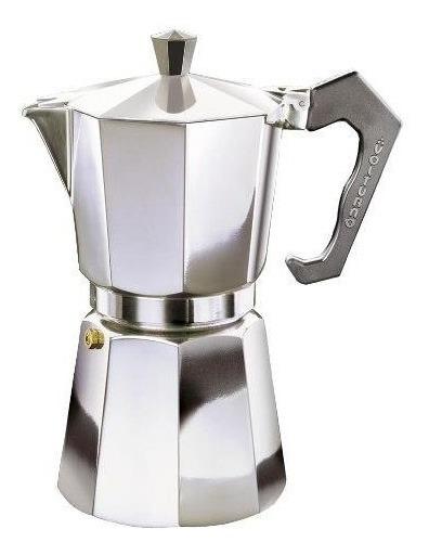 Cafetera De 9 Pocillos Volturno Classica Aluminio Pulido