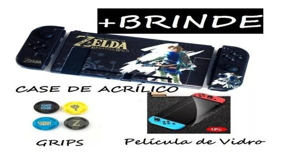 Capa Acrílico Nintendo Switch Case Zelda Link Película Grip