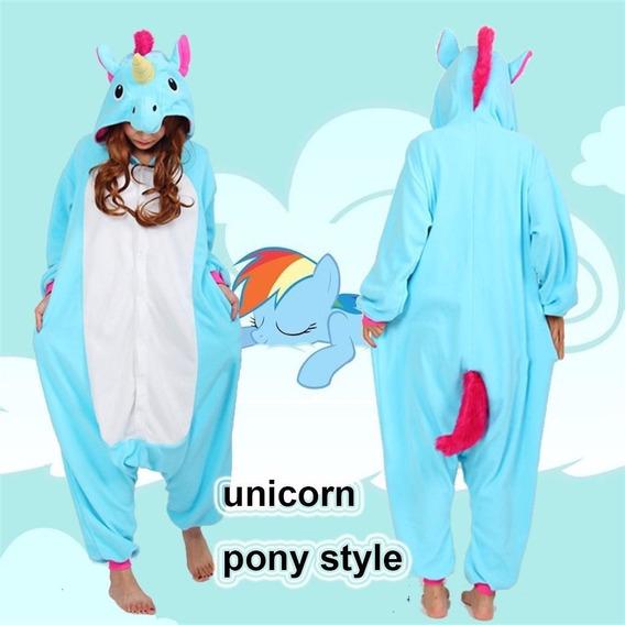Pijama Mameluco Cosplay Unicornio Azul Xtreme P