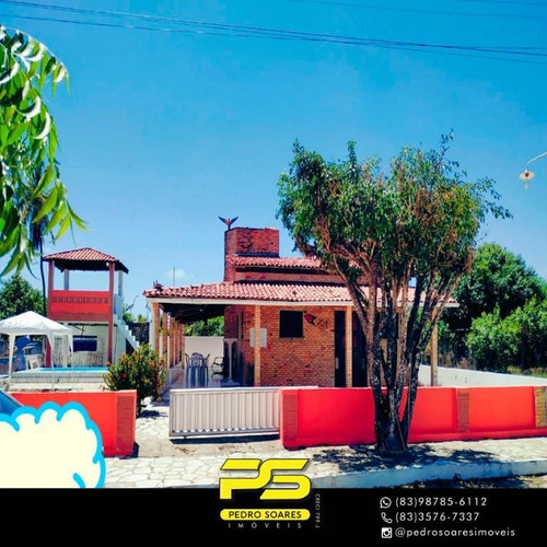 Casa Com 3 Dormitórios À Venda, 500 M² Por R$ 279.000 - Camacari - Lucena/pb - Ca0608