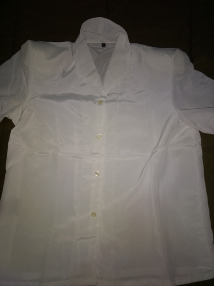 Camisa Mujer Mangas Corta Blanca