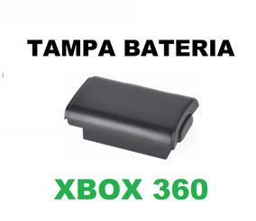 Tampa Bateria Preto Controle Xbox360 Suporte De Pilhas