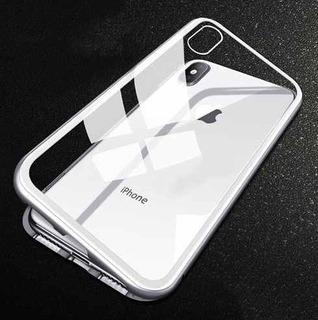 Funda Protector Magnetica Aluminio iPhone 6 7 8 Plus X Xs Xr