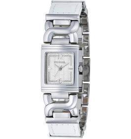 Relógio Feminino Original Fossil Prata Couro Branco Pr Dagua