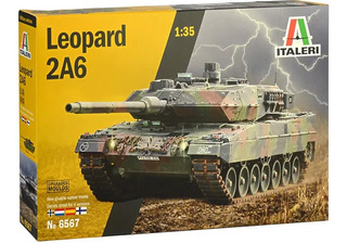 Tanque Leopard 2a6 1/35 Kit Italeri Tipo Revell P/ Montar