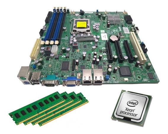 Kit Supermicro Placa Mãe + Xeon X3430 2.41ghz + 8gb + Nfe