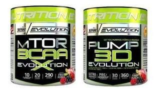 Pump 3d 360g + Mtor Bcaa X 290g Star Nutrition Evolution