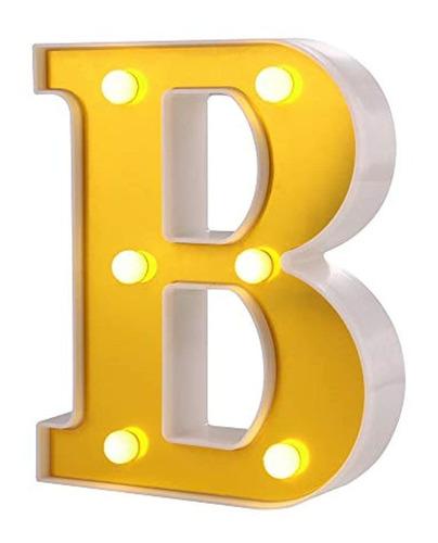 Samapet B - Letras Led Con Letras Del Alfabeto, Color Blanco