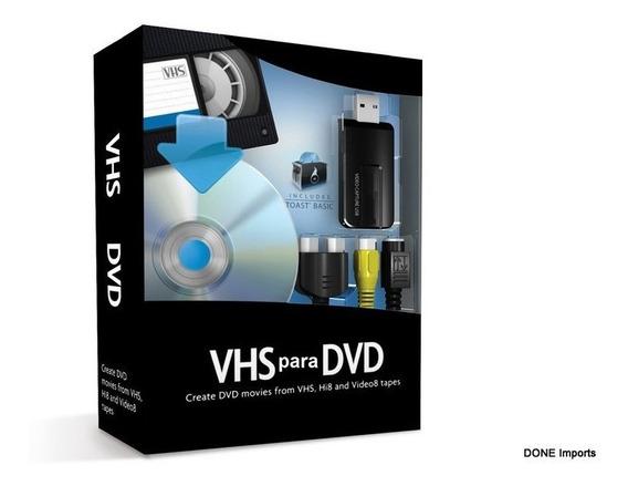 Kit De Conversão De Vhs E 8mm Para Dvd Captura Video Facil